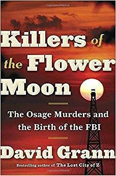 "Knygos viršelis/Knyga ""Killers of the Flower Moon"""