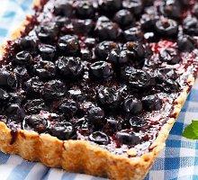 Veganiškas mėlynių pyragas