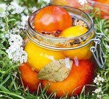 Pomidorai, marinuoti su garstyčiomis