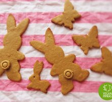 Žaismingi veganiški Velykų sausainiai