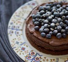 Šokoladinis tortas be glitimo