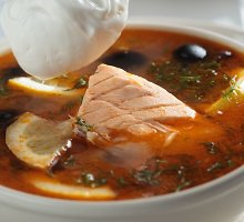 Daržovių ir lašišų sriuba