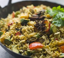 """Ryžiai su """"Biryani"""" daržovėmis"""