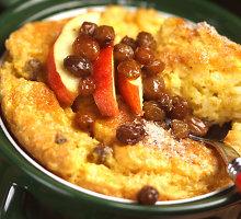 Skanus ir šiltas, ir šaltas ryžių ir obuolių apkepas