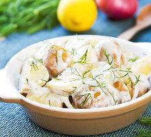 Bulvių, krapų ir agurkų mišrainė