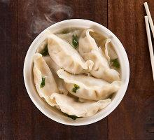 Kiniški virtiniai su vištienos ir krevečių įdaru