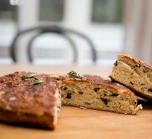 Greita duona su alyvuogėmis ir rozmarinais