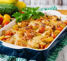 Cukinijų ir pomidorų apkepas su ryžiais