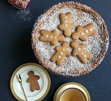 Meduoliais kvepiantis varškės pyragas Kalėdoms