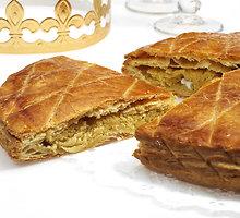 Prancūziškas migdolinis pyragas Trijų Karalių šventei