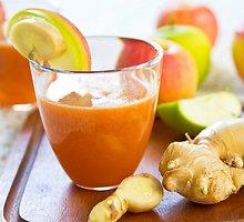 Imbierinis obuolių tirštasis kokteilis
