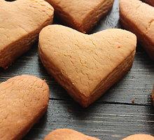 """Sausainiai """"migdolinės širdys"""""""
