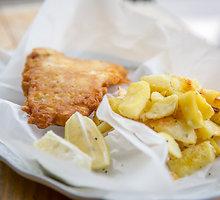 Žuvis su bulvytėmis pagal britišką rceptą