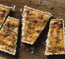 Gorgoncolos sūrio ir obuolių kišas