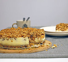 Trupininis pyragas su maskarpone ir obuoliais