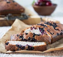 Mėlynių pyragas su baltuoju šokoladu