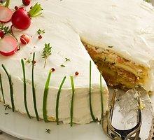 """Pikantiškas """"Napoleono tortas su žuvimi"""""""