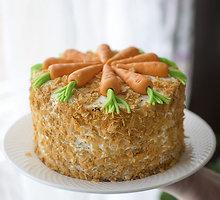 Morkų, riešutų ir ananasų tortas su maskarponės sūriu