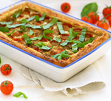 Pomidorų ir rikotos pyragas