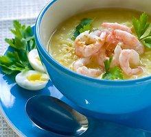 Daržovių sriuba su krevetėmis
