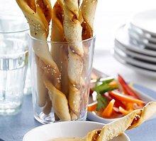 Aromatingos duonos juostelės