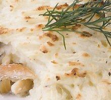 Bulvių pyragas su lašiša