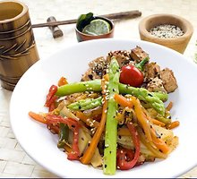 Daržovės su mėsa