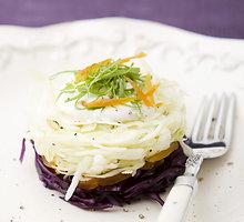 Spalvotos kopūstų salotos