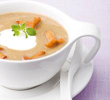 Lęšių sriuba su voveraitėmis