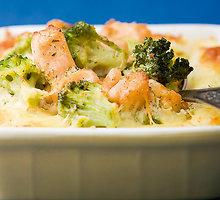 Lašišos ir brokolių apkepas