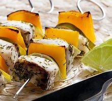 Žuvų ir paprikų vėrinukai