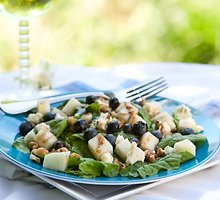 Špinatų ir šilauogių salotos