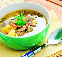 Grybų sriuba su pupelėmis