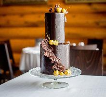 Šokoladinis tortas su kremu ganaš
