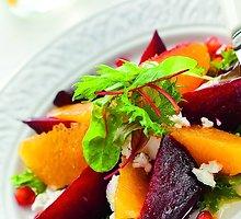 Burokėlių ir apelsinų salotos