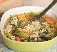 Vištienos faršo sriuba