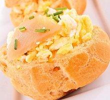 Bandelės su puria kiaušiniene