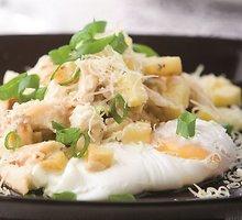 Rūkytos žuvies ir bulvių rizotas