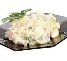Kiaušinių, kumpio ir grybų salotos