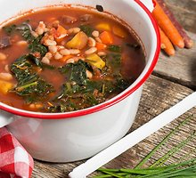 Lapinių kopūstų ir pupelių sriuba