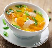 Geltonųjų paprikų sriuba