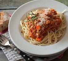 Spagečiai su džiovintų pomidorų padažu