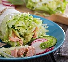Susuktos lašišų salotos