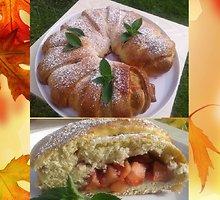 Obuolių ir spanguolių pyragas