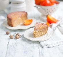 Persimonų pyragas su speltų miltais