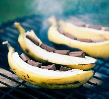 Grilyje kepti bananai su maskarponės kremu
