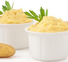 Česnakinė bulvių košė su sūriu