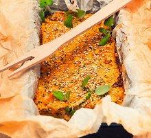 Lęšių ir daržovių pyragas