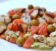 Itališkos salotos su lašiša
