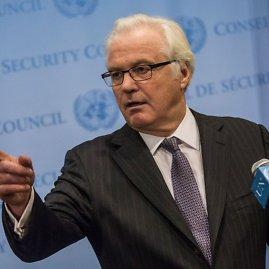 """AFP/""""Scanpix"""" nuotr./Rusijos nuolatinis atstovas Jungtinėse Tautose Vitalijus Čurkinas"""